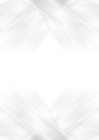 Abstract grey and white smooth stripes background. Vector art design
