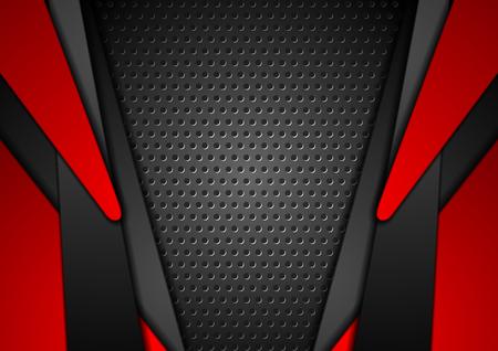 Red and black geometric pattern. Çizim
