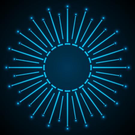 ray of light: Blue shiny abstract pattern.