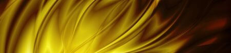 Abstract shiny dark orange waves banner design. Vector wavy header background Illustration