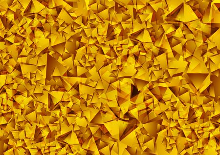 Abstract shiny golden low poly technology background. Vector design Illustration