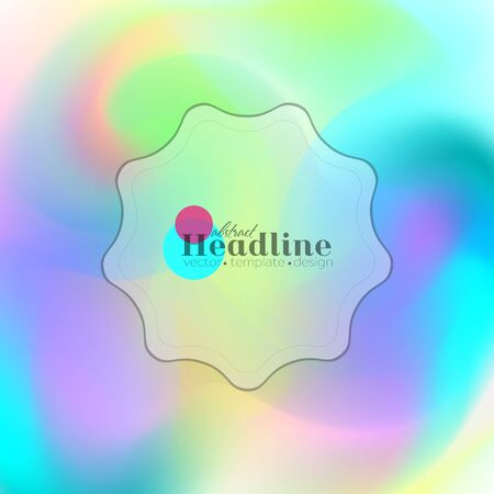 Holographic colorful abstract gradient background.