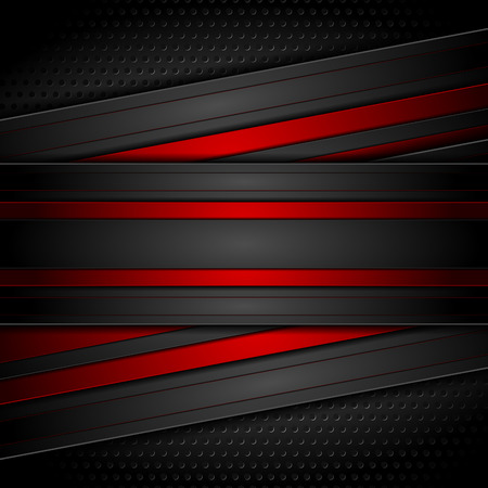Dark red and black contrast tech design