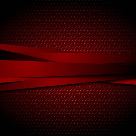 Dark red abstract striped vector tech background Illustration