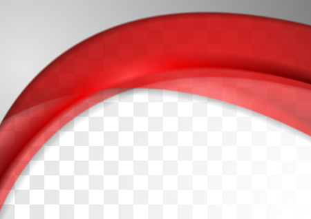 Abstract bright red transparent waves template background. Modern vector graphic design.
