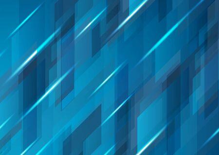 Donkerblauw abstract hi-tech digitaal patroonontwerp. Vector moderne futuristische achtergrond