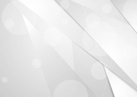 Abstract white and grey minimal corporate tech background. Vector design Ilustrace