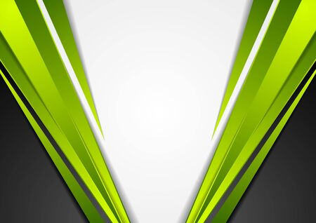 Grey, green and black tech corporate abstract background. Vector graphic design