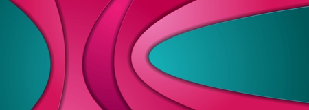 Bright abstract papercut wavy corporate background. Vector design