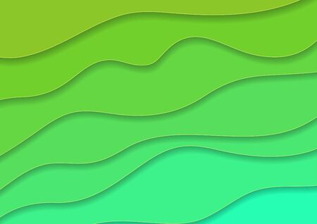 Turquoise and green corporate waves abstract background. Vector design