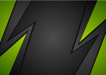 noir et vert abstrait géométrique fond d & # 39 ; entreprise. conception de vecteur