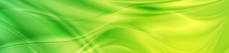 Abstract shiny bright green waves banner design.