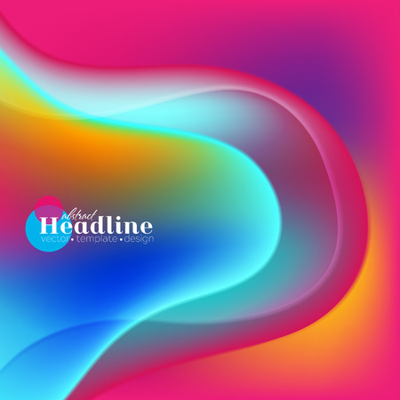 Colorful elegant holographic liquid waves abstract background. Vector design Illustration