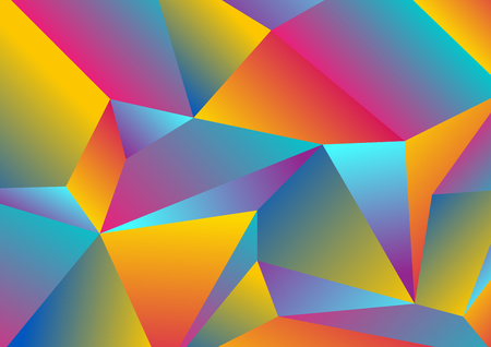 Colorful tech low poly splinters abstract background. Polygonal vector design Ilustração