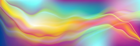 Colorful soft fluid waves abstract background. Vector graphic modern design