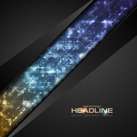 Abstract shiny hi-tech corporate vector background