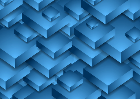 Bright blue abstract technology background. Vector illustration