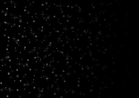 Abstract night flickering flash lights vector background Illustration
