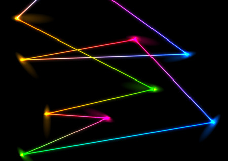 Abstract colorful neon laser lines background. Vector design
