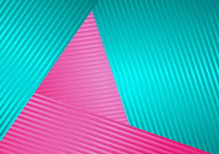 Turquoise and pink abstract corporate striped 矢量图像