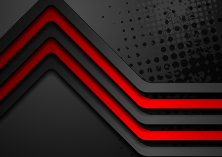 Red black stripes abstract corporate background. Vector design