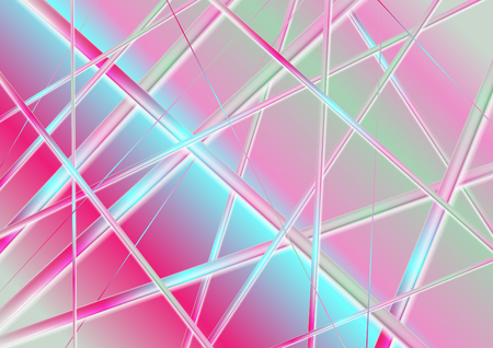 Holographic glossy stripes abstract corporate background. Vector design