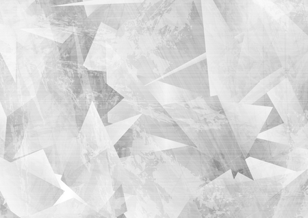 Light grey grunge polygonal tech abstract background. Vector design