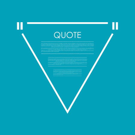 Quote blank speech bubble abstract triangle bright design. Vector background