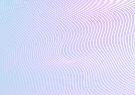 Minimale pastel trendy gebroken gebogen golven abstracte achtergrond. vector ontwerp Vector Illustratie
