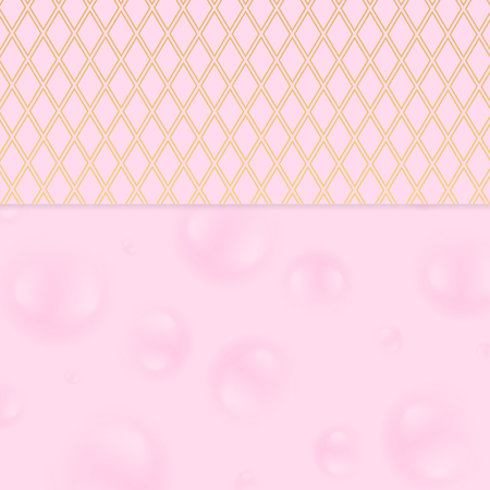 Pink and golden abstract corporate design pattern. Vector minimal background Ilustrace