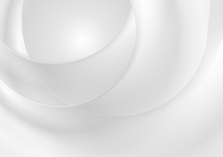Grey pearlescent blurred waves abstract background. Vector design