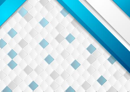 Fondo corporativo azul y gris con mosaico de cuadrados. Diseño gráfico vectorial Ilustración de vector