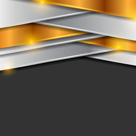 Bronze and silver abstract tech corporate background. Vector design