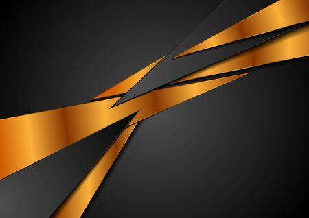 Black and bronze abstract corporate background. Vector design Standard-Bild - 128176493