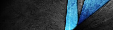 High contrast dark grey and blue stripes. Abstract grunge tech graphic banner design. Stock fotó - 129263884