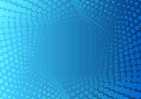 Abstract bright blue geometric halftone hexagonal pattern. Vector tech modern background Vector Illustration
