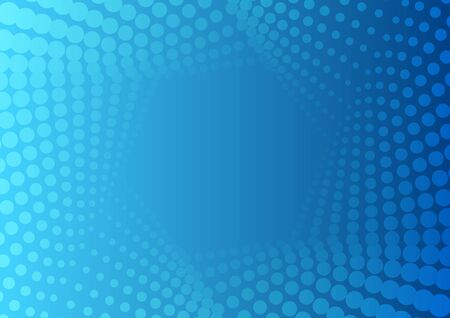 Abstraktes helles blaues geometrisches sechseckiges Halbtonmuster. Vektor-Tech-moderner Hintergrund Vektorgrafik