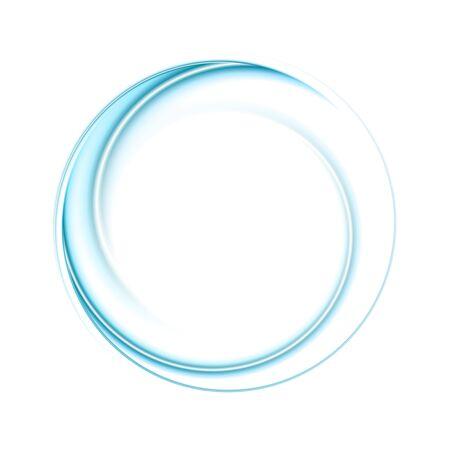 Bright blue smooth abstract circular logo technology background Logo