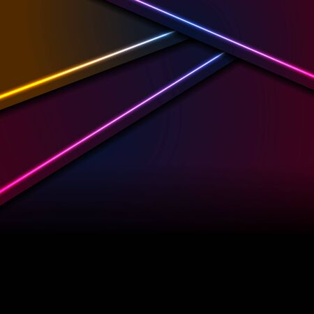 Colorful neon laser lines abstract corporate background
