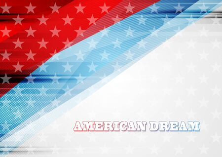 Grunge concept USA flag abstract background