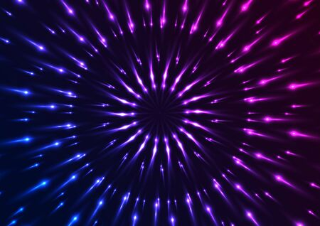 Blue and purple neon glowing pattern background