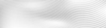 Grey liquid 3d refracted waves abstract banner design. Smooth wavy pattern vector background