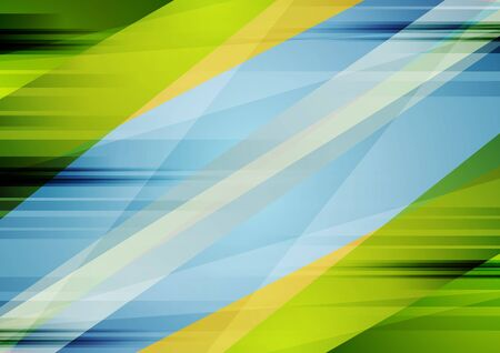 Colorful blue and green contrast abstract background. Vector grunge illustration