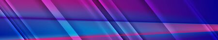 Blue and purple glossy stripes abstract modern banner design. Vector background Иллюстрация