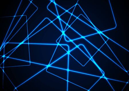 Blue glowing neon lines abstract tech futuristic