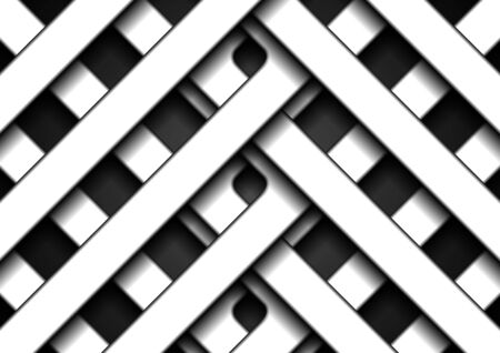 Abstract white smooth stripes on black background. Vector corporate design