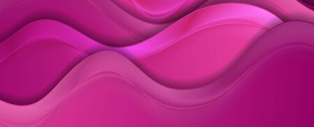 Bright pink abstract smooth blurred wavy background. Vector illustration 写真素材 - 149354160