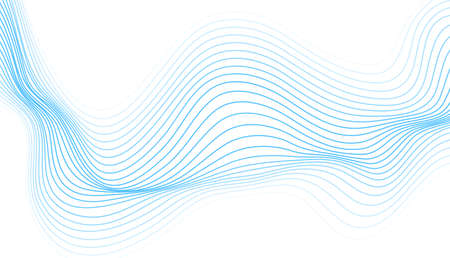 Abstract blue curved wavy lines tech futuristic vector background