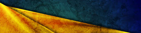 Dark green grunge texture background with luxury golden glossy stripes. Vector corporate banner