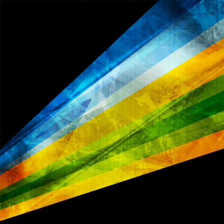 Colorful grunge stripes abstract tech corporate background. Vector illustration